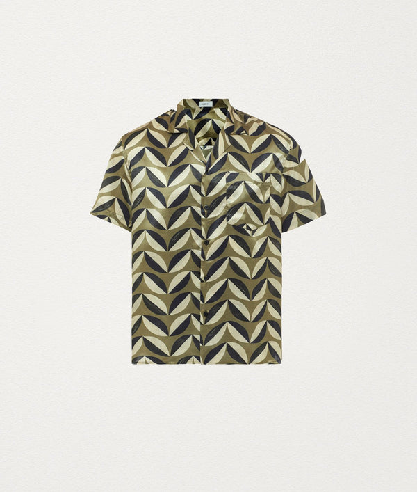 Pavilion tile cardamon Silk Shirt - COMMAS