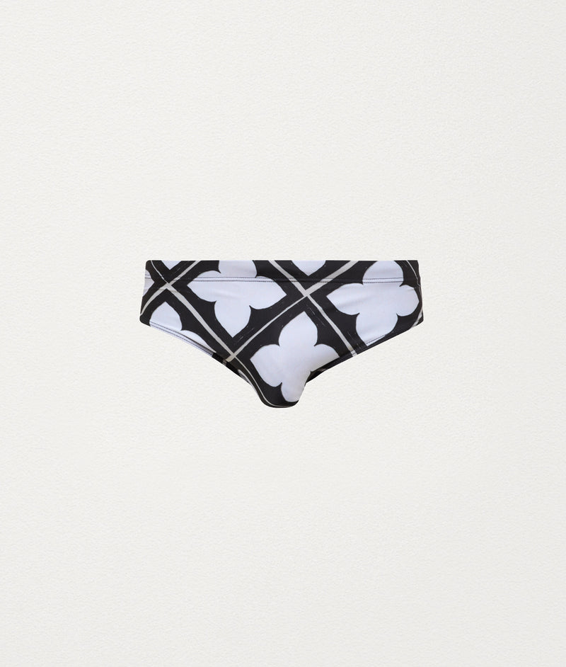 TILE BLACK CLASSIC SWIM BRIEF - COMMAS