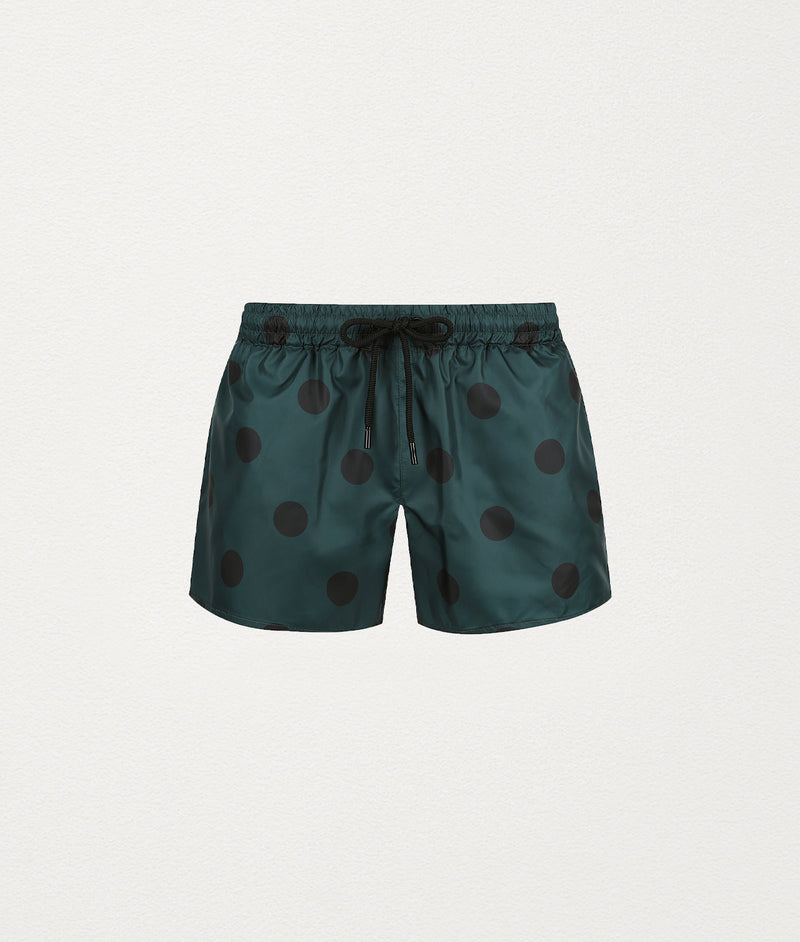 BLACK POLKA DOT SWIM SHORT - COMMAS