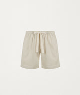 BEIGE LINEN LOUNGE SHORT - COMMAS