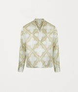 TILE BEIGE LS SILK SHIRT - COMMAS