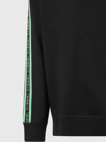 Diesel UMLT-WILLY Sweat - Black/Neon