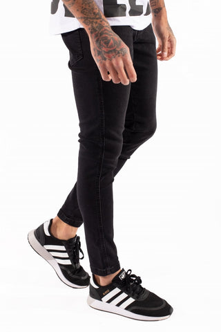 11 Degrees Super Stretch Skinny Jeans - Jet Black