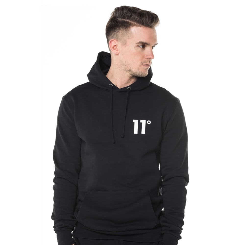 11 Degrees Core Pullover Hoodie - Black