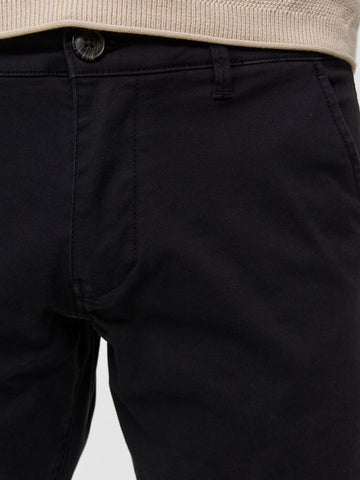 Selected Homme  REGULAR FIT - CHINOS Black