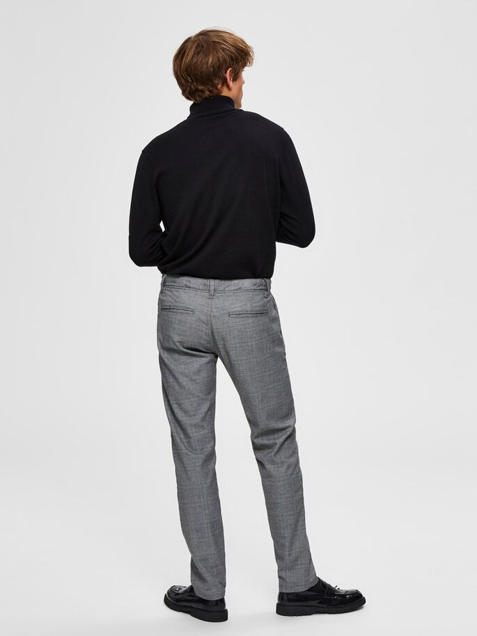 Selected Homme Check Trousers - Grey