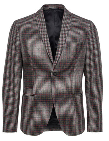 Selected Homme Slim Regent Blazer  - Multi Check