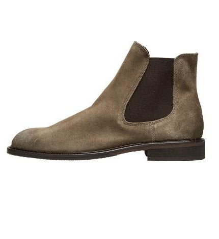 Selected Homme Baxter Suede Boot - Teak