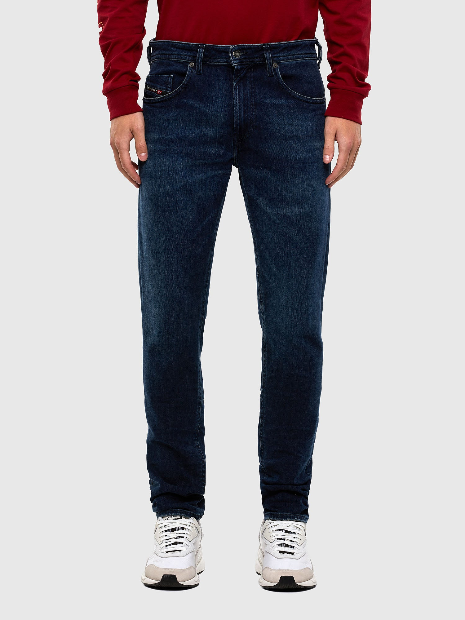 Diesel Thommer Jeans Slim Fit - Mid Blue 009JE