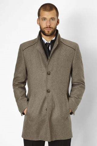 S4 Newton Wool Coat - Beige