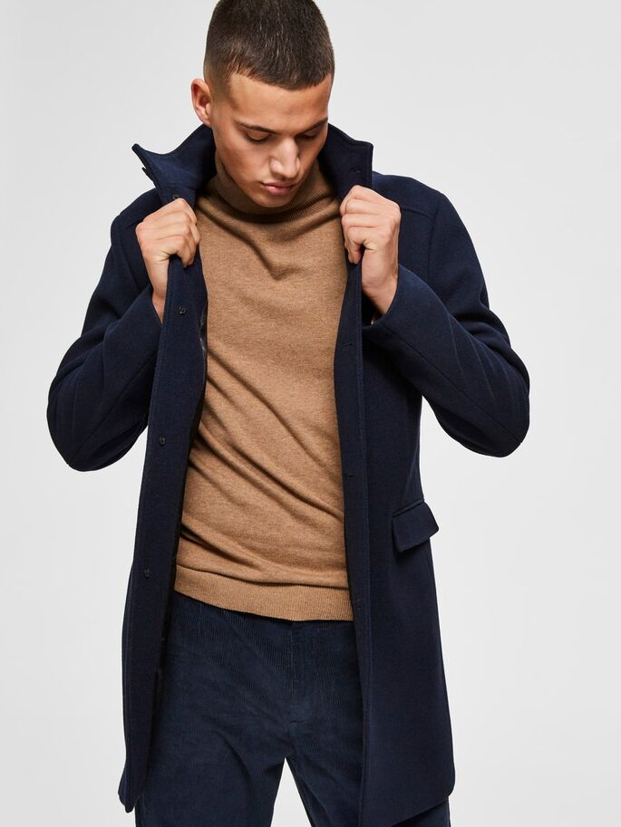 Selected Homme wool coat - Navy