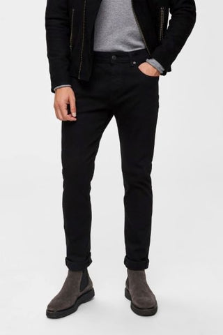 Selected Homme Slim Fit Jeans - Black