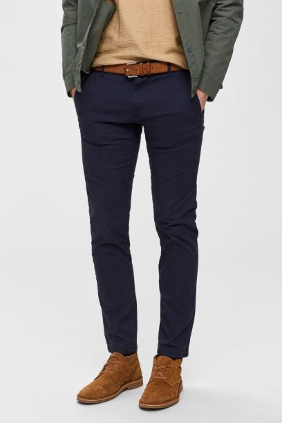 Selected Homme Straight Fit Chino - Navy