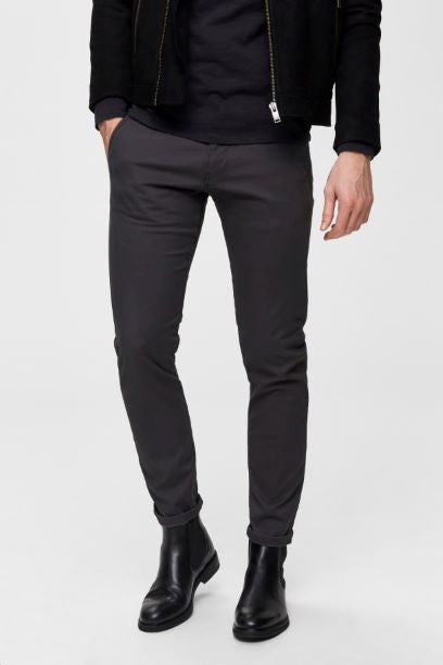 Selected Homme Straight Fit Chino - Phantom Charcoal