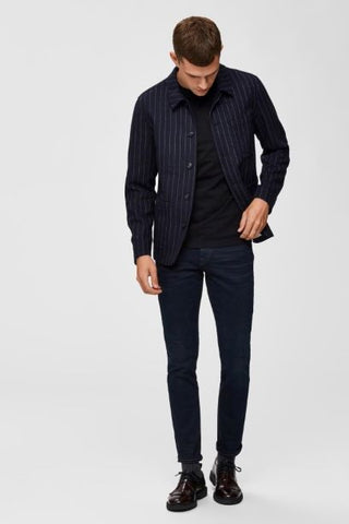 Selected Homme Super Stretch Slim Jeans - Dark Blue