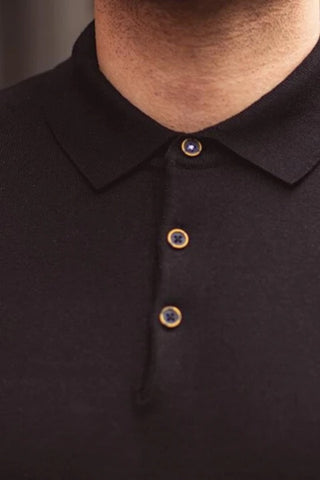 Knitted Polo - Black