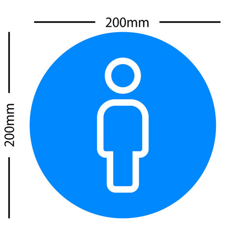 Covid-19 Social Distancing 'Stand Here' Floor Graphic - 200mm x 200mm (set of 6)