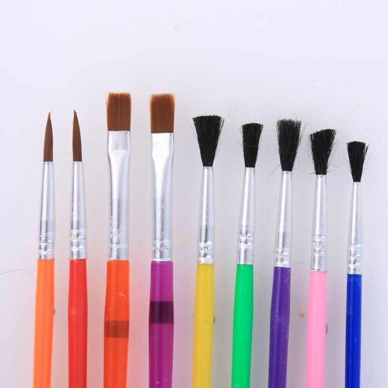 15pcs Assorted Paint Brushes Set - Colour water