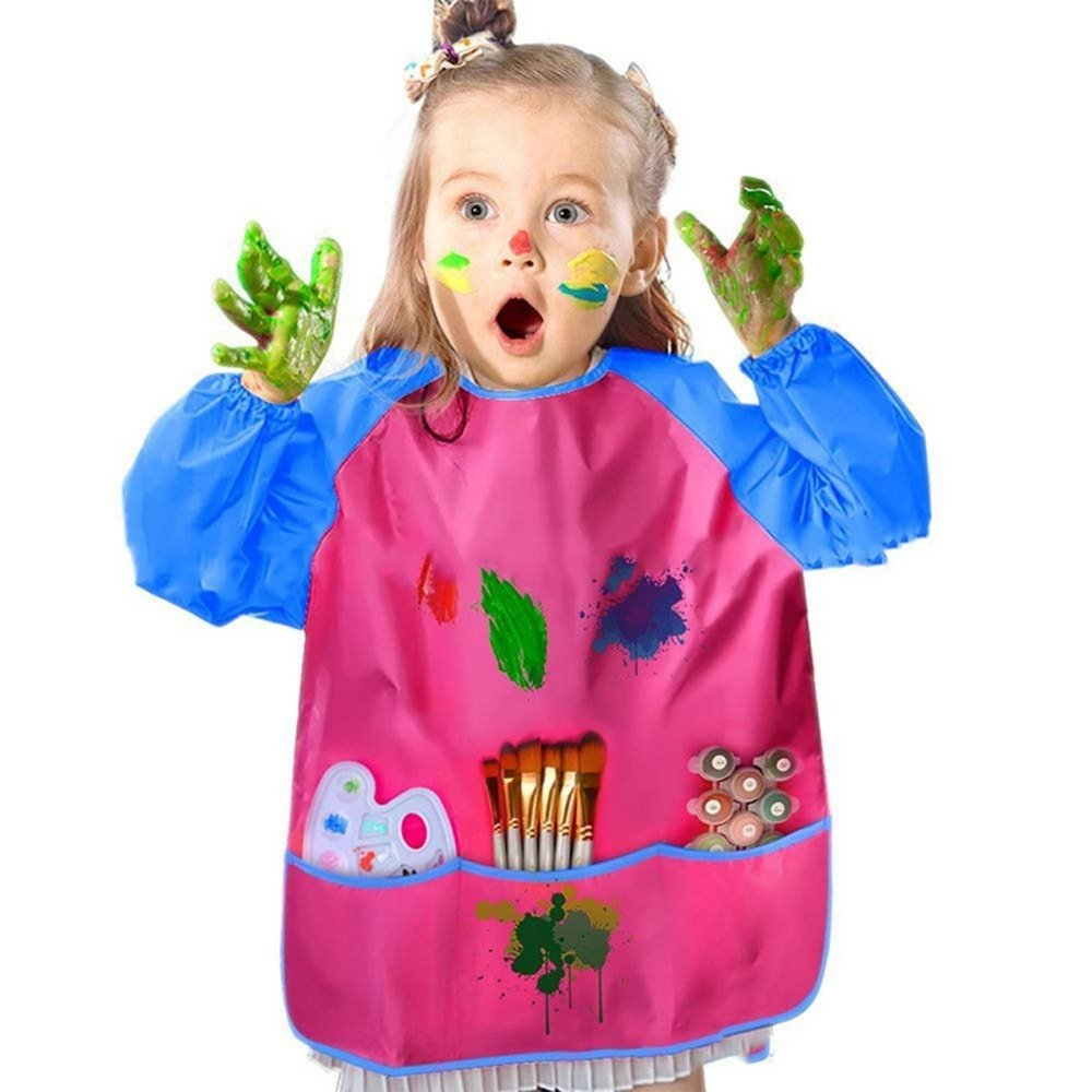 NEW - Kids Apron Long Sleeve Waterproof - Colour water