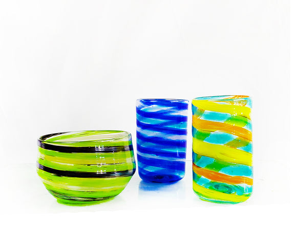GLASS BLOWING - Create-Your-Own Breakfast Cup and Bowl Set