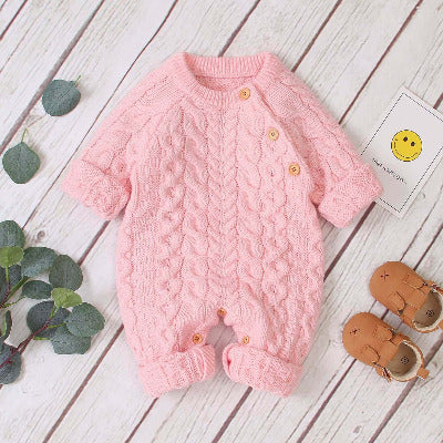 Knitted solid baby jumpsuit | Sprider Store | SpriderStore | Allforfamily