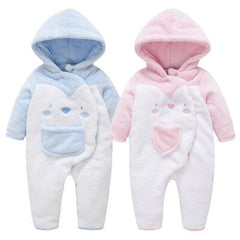 Newborn hooded romper