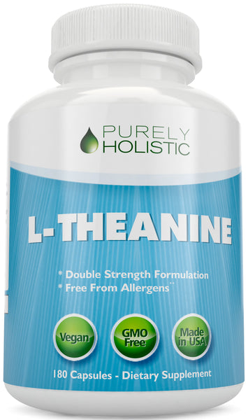 L-Theanine 200mg (Double-Strength) 180 Vegan Capsules a 6 Month Supply