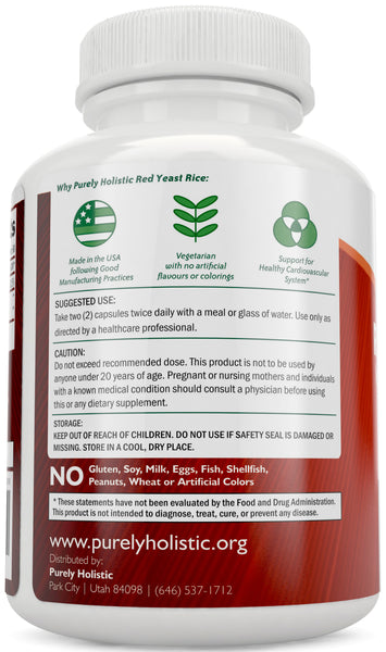 Red Yeast Rice 1200mg with CoQ10 - Flush Free Niacin, 120 Vegan Capsules - Non Irradiated - Citrinin Free - Supports Healthy Cholesterol Levels & Cardiovascular System