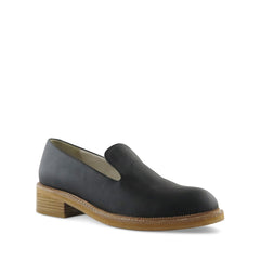 Chaos & Harmony, Amelia black, leather loafers, made in China, New Zealand fashion, comfortable leather loafers