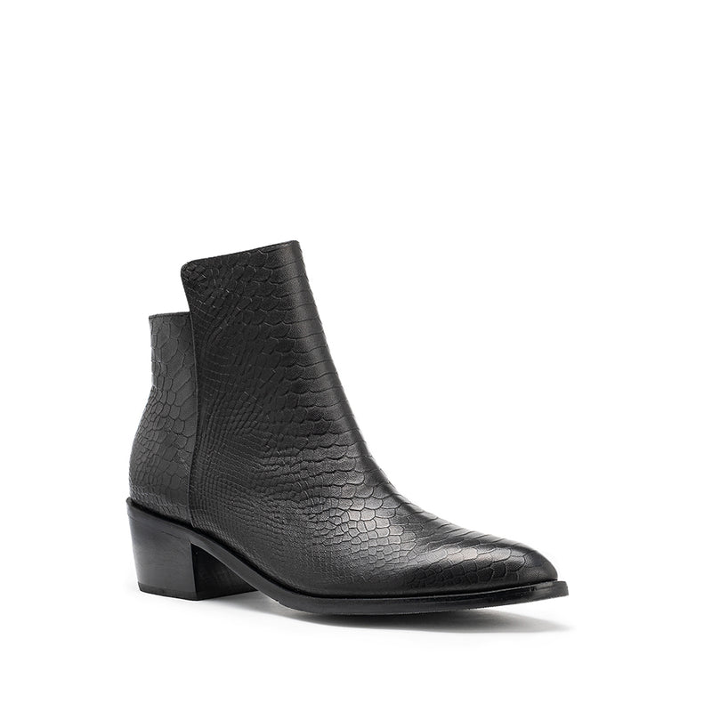 Assemble Boot - Black Croc