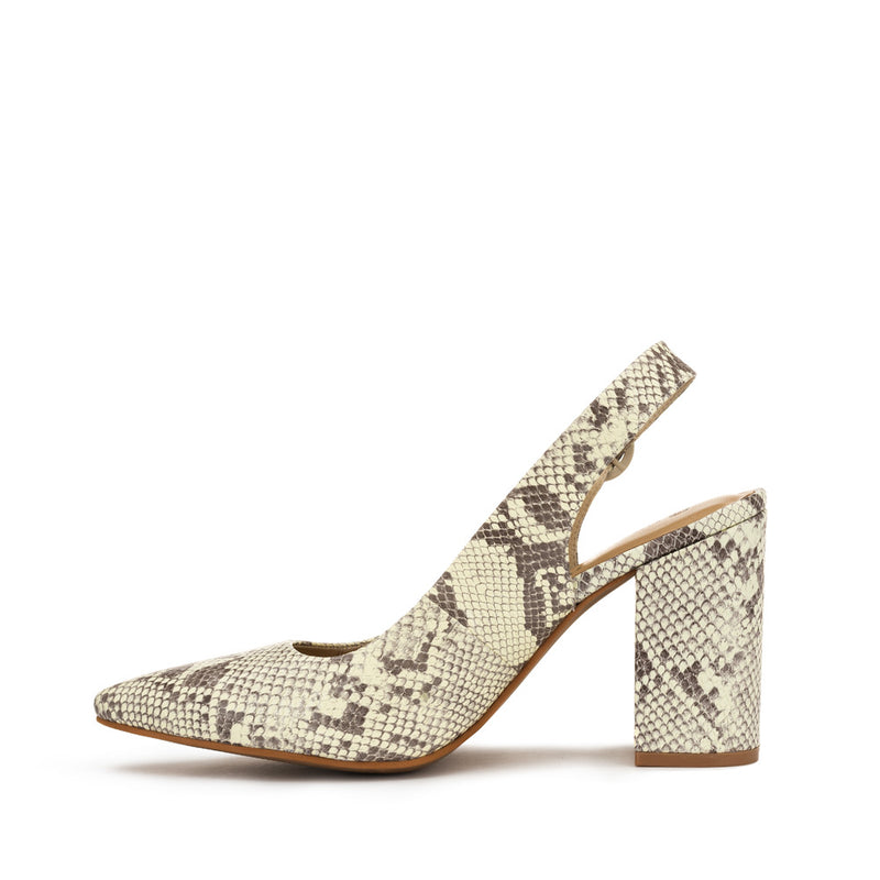 Chaos & Harmony AURORA pump Natural snake patterned leather high heel for women - Inside Profile