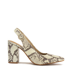 Chaos & Harmony AURORA pump Natural snake patterned leather high heel for women - outside profile
