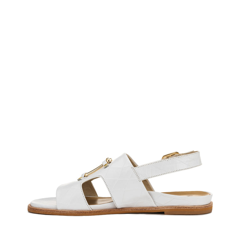 Chaos & Harmony Bounty Sandal - White leather sandal for women - Inside Profile