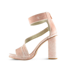 Charm High Heel - Blush Velvet