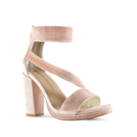 Evermore High Heel - Blush Velvet