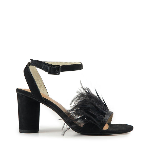 Chichi Heel - Black Feather