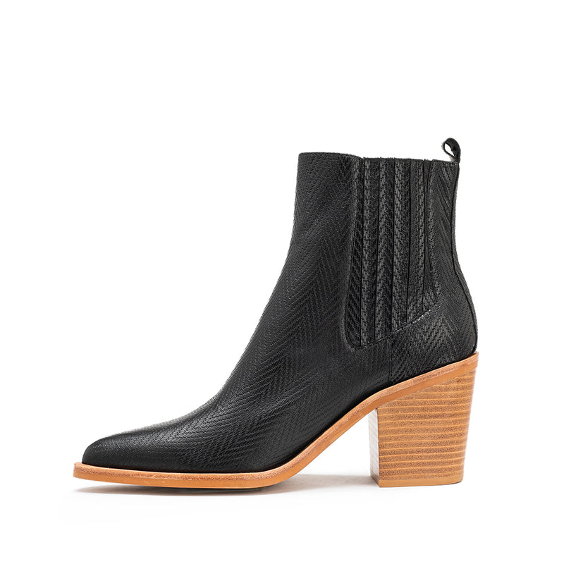 Distinct Boot - Black Herringbone