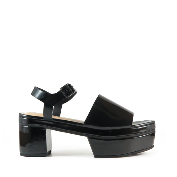 Geta, vinyl, black, platform sandal, Chaos & Harmony, New Zealand fashion