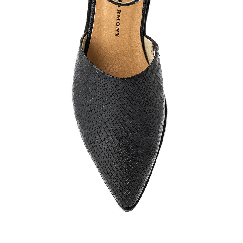 Lauryn Flat - Black Lizard