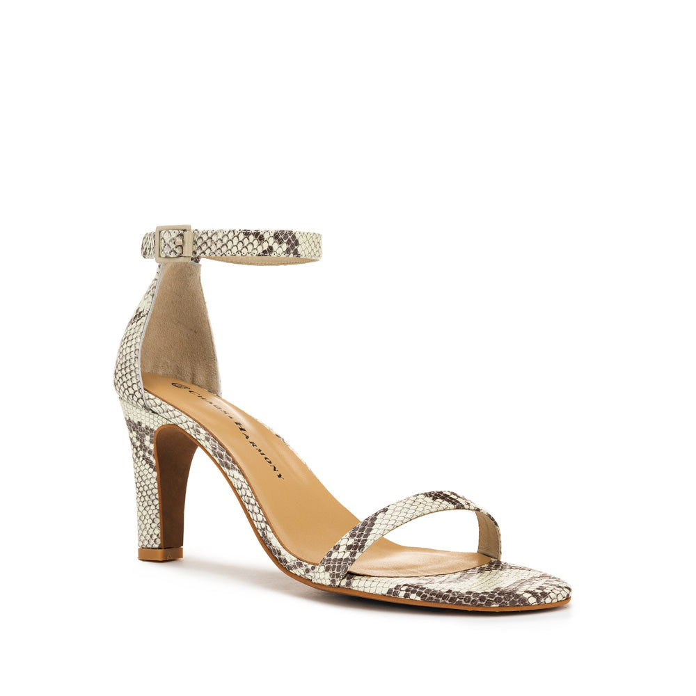 Lover Heel - Natural Snake