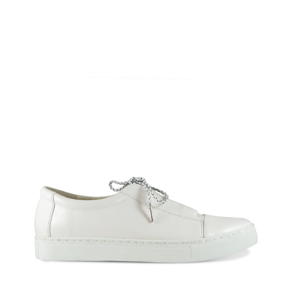 Motion, white men's leather sneaker, Chaos & Harmony, New Zealand fashion