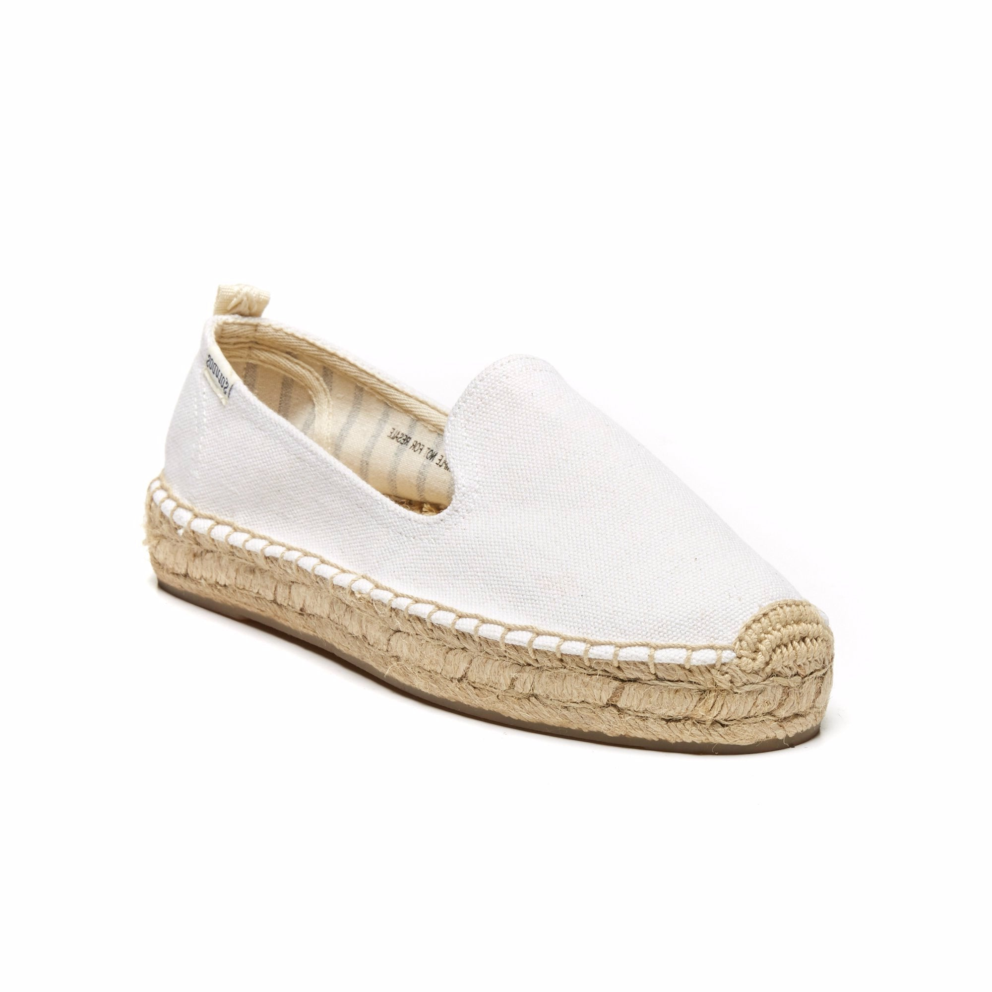 Platform Smoking Slipper - White