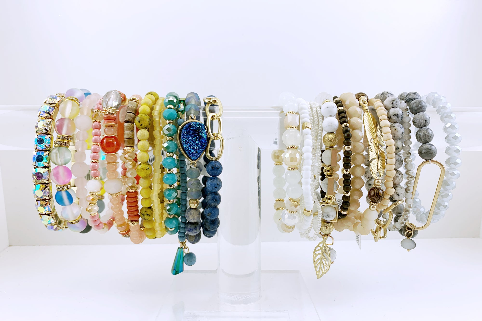 women's stretch bracelets in rainbow of colors