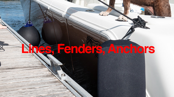 Centet Console Boat Dock Lines Fenders and Anchors