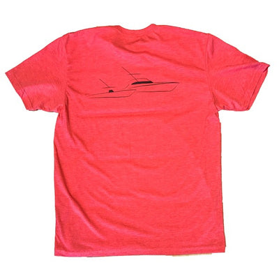 Sportfish Outfitters Mens Vintage Red Boats Only Shirt