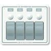 Blue Sea 8272 Water Resistant Panel - 4 Position - White - Horizontal Mount [8272]