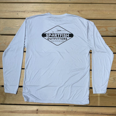 Sportfish Outfitters Mens Long Sleeve Diamond Performance Shirt