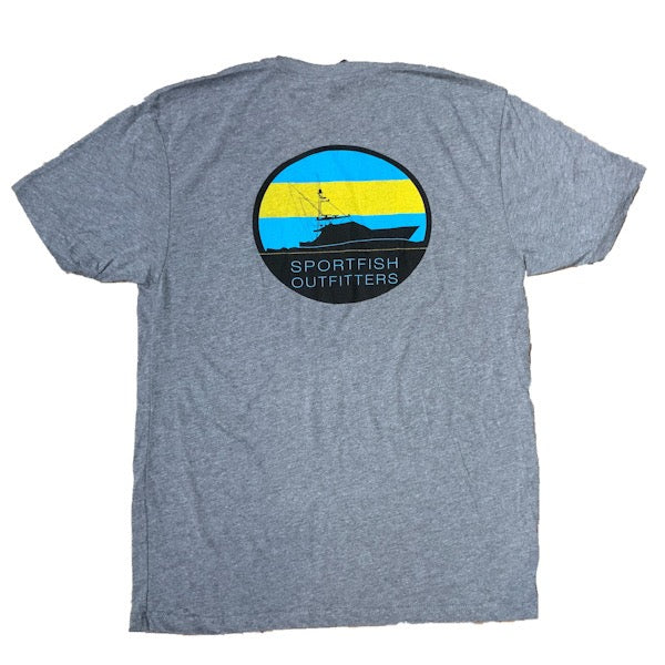 Sportfish Outfitters Men's Heather Gray - Bahamas Flag