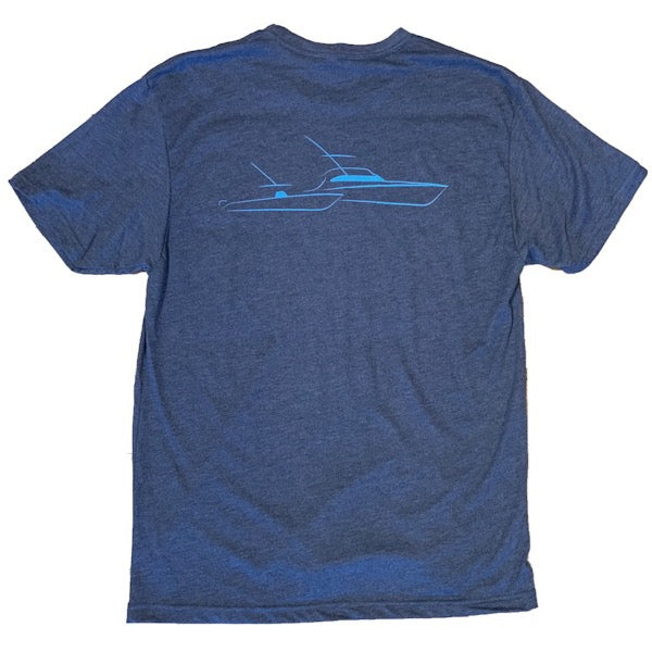 Sportfish Outfitters Mens Vintage Navy Boats Only Shirt