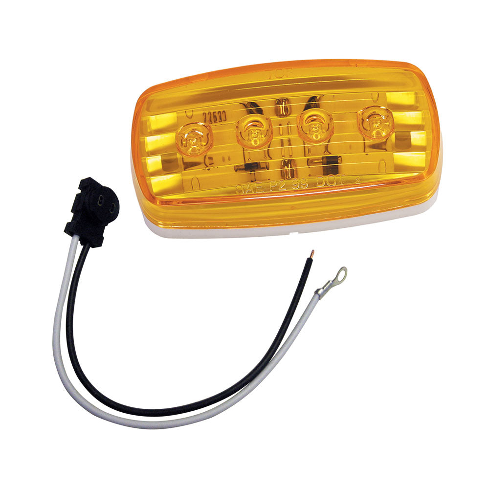 Wesbar LED Clearance/Side Marker Light - Amber #58 w/Pigtail [401585KIT]